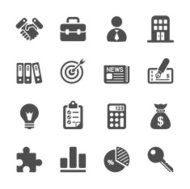 business and office icon set, vector eps10