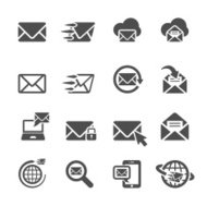 email application icon set, vector eps10