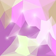 Abstract bright pink shining polygonal triangular background wit