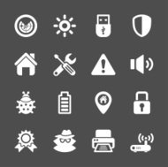 security icon set, vector eps10
