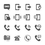 phone device communication icon set, vector eps10