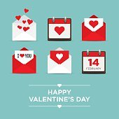 Valentines day, set of icons