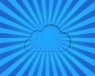 Cloud on a blue striped background, vector eps10