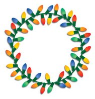 Christmas Lights Wreath