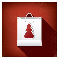 Christmas sales shopping bag concept design for promotion and ad