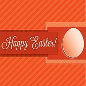Bright Happy Easter card in vector format.