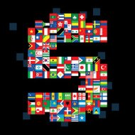 national flags money sign