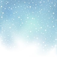 winter day snow background