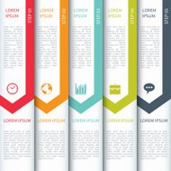 Modern Minimal Colorful Arrow Infographic Elements