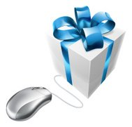 Online present gift mouse concept