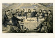 Crimean War -  Christmas dinner in the officers mess