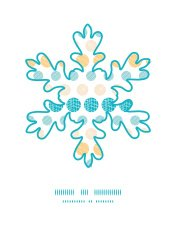 Vector texture circles stripes abstract Christmas snowflake silh