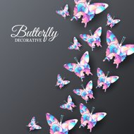 beautiful colorful butterfly background concept. Vector illustra