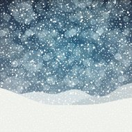 Falling Snow. Merry Christmas Background with Space for Text