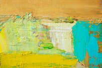 Abstract painted yellow and green art backgrounds.