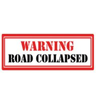 Road Collapsed-stamp