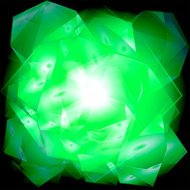 Green abstract geometrical background burst light