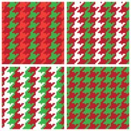 Christmas Pixel Houndstooth Patterns