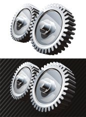 Chromed vector gears silver