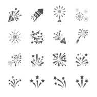 firework icon set 4, vector eps10