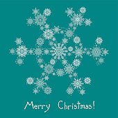 winter snow card, Christmas and New Year