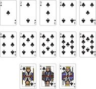 Club Suit Playing Cards