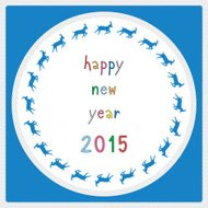 Happy new year 2015 greeting card19
