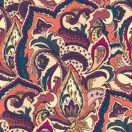 Paisley seamless pattern. Colored textile