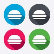 Hamburger sign icon. Fast food symbol.