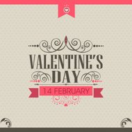 Valentine's Day celebration greeting card design.