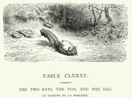 La Fontaine's Fables - Two Rats, Fox and the Egg