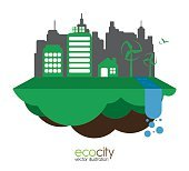 eco city design vector illustration eps10 graphic