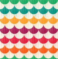 seamless fun scallop shape pattern