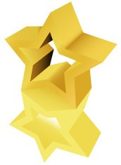 Gold Star Award Sculpture Statue Ornament