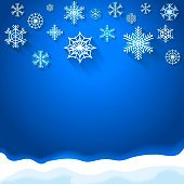 Abstract snowflake christmas background