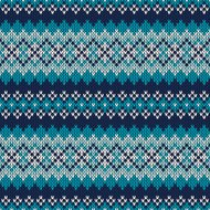 Seamless Fair Isle Knitted Pattern. Festive and Fashionable Swea