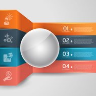 modern infographics business step infographic Template