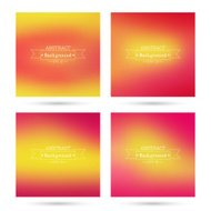 Set of vector colorful abstract backgrounds blurred.