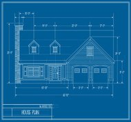 Vector House Blueprint Front
