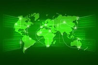 World map geography world order background shipping green
