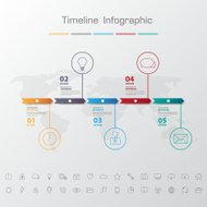Shadow Design clean number timeline template/graphic or website.