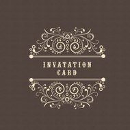 Invitation card design.