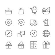 Shopping and logistic - Simple Icon