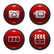 Red Button Camera Icons