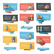 Building banner flat design background set, eps10