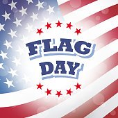flag day banner with american flag background