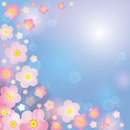 Spring gentle background with pink flowers.