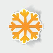 realistic design element: snowflake