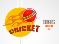 Stylish sticker for Cricket Champions League.