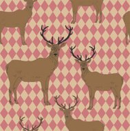 Seamless pattern with deers.